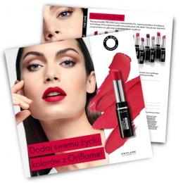 Ulotka prospektingowa THE ONE Colour Unlimited UltraFix Lipstick.