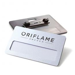 Identyfikator z logo Oriflame